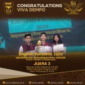 Lomba English Funtastic 2020 Universitas Muhammadiyah Gresik